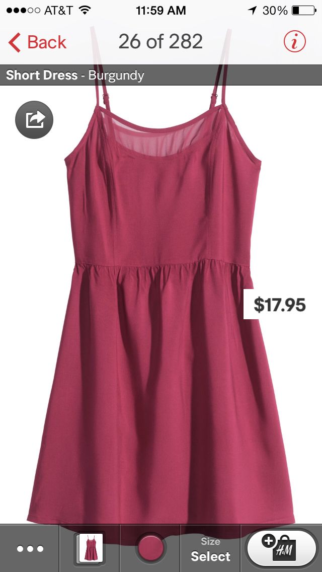 Flattering cut and pretty color  Dress from h & m