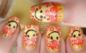 Photo of Smiley Pepperoni Pizza Nail Art by madjennsy from Nail Art Gallery