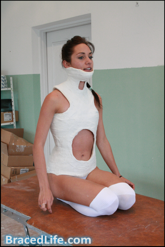 Cheryl Risser Plaster Cast #2 by MedicBrace on DeviantArt | Neck and