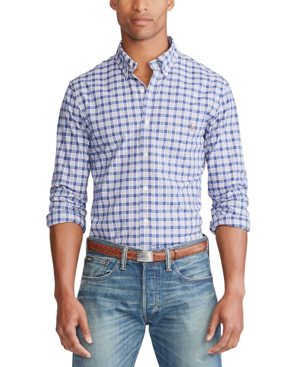 RALPH LAUREN Mens Slim Fit Checkered Casual Shirt