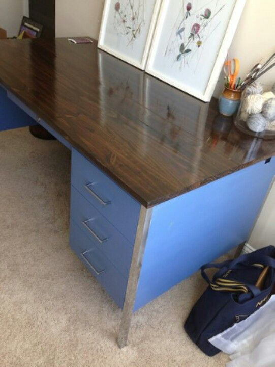 Mom2b0328 This Is An Old Metal Teachers Desk My Friend Refinished I Love