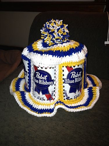 e5e6ea8ba29 Beer Can Hat pattern by Extreme Craft. I made one of these when I was  younger!