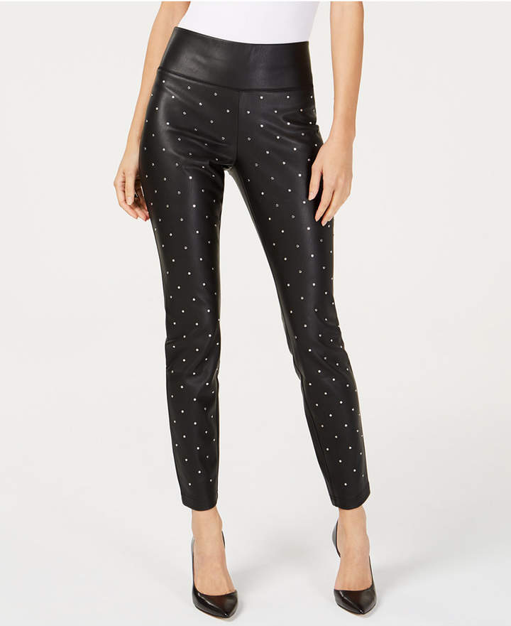 98af052fc72b5 INC International Concepts I.n.c. Studded Faux-Leather Skinny Pants
