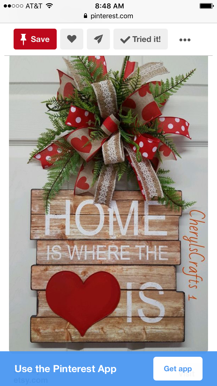 valentine s day sign with bow valentine s day ideas valentines rh pinterest com