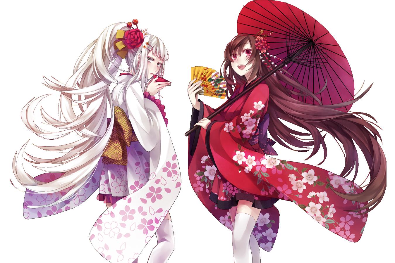 Render Fille Renders Fillesfemmes Ombrelle Eventail Kimono Tasse deCrBEQoWx
