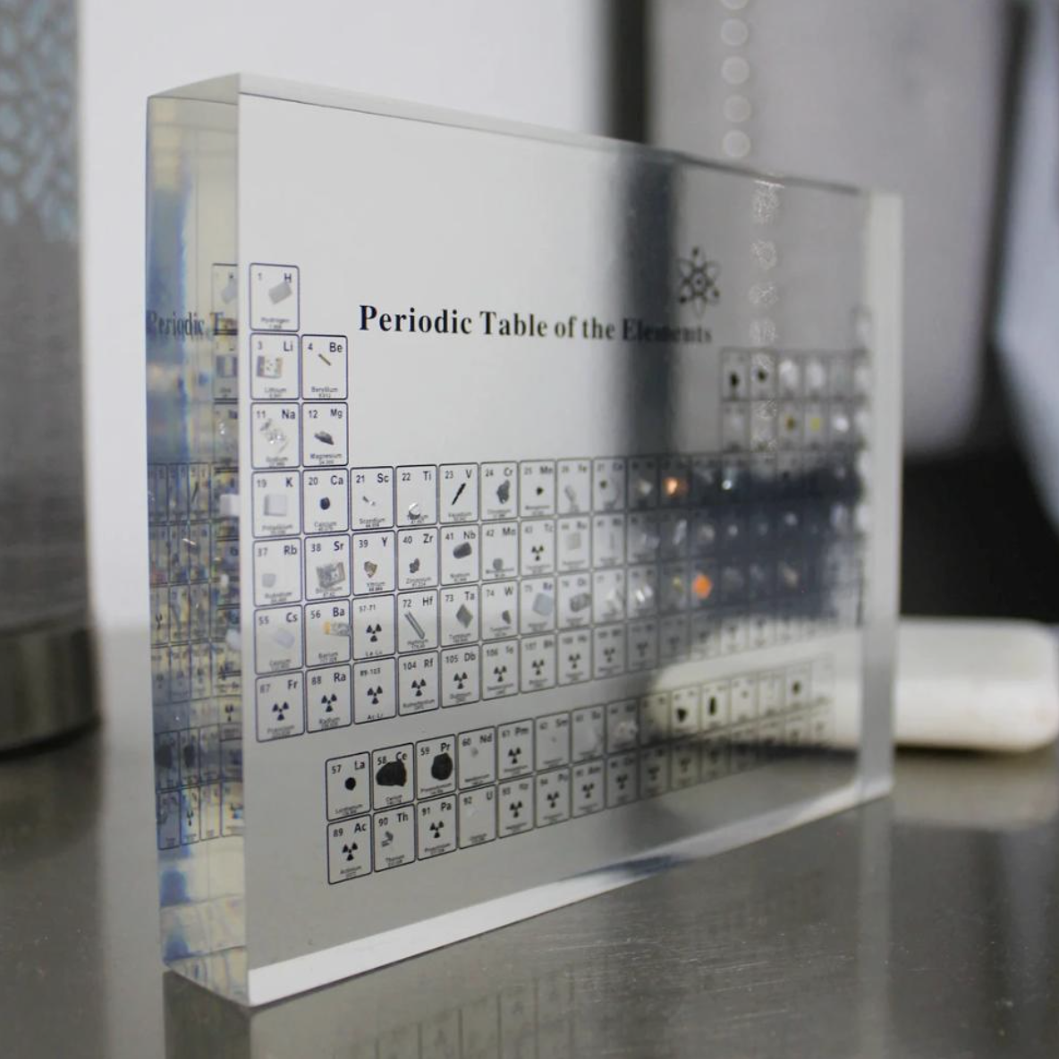 Periodic Table With Real Elements In 2021 Periodic Table Science Lover Element