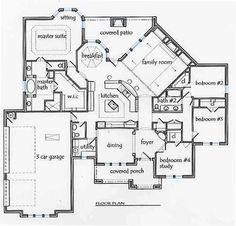 love the flow dont need br 4 or study texas house plans