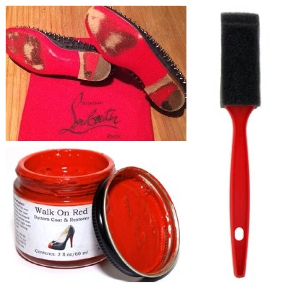 Walk On Red Sole Restoration Touch Up Paint Set Louboutin Mens Flat Loafersslipons