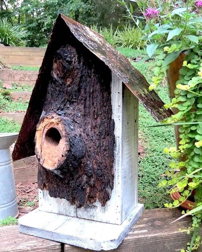 Rustic Log Front Birdhouses 3 sizes