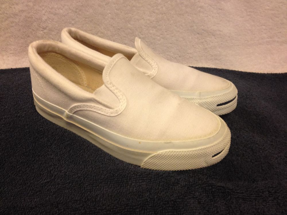 387607594aea CONVERSE JACK PURCELL slip on VINTAGE MADE IN USA MEN 3.5   WOMEN SZ 5.5  SHOES