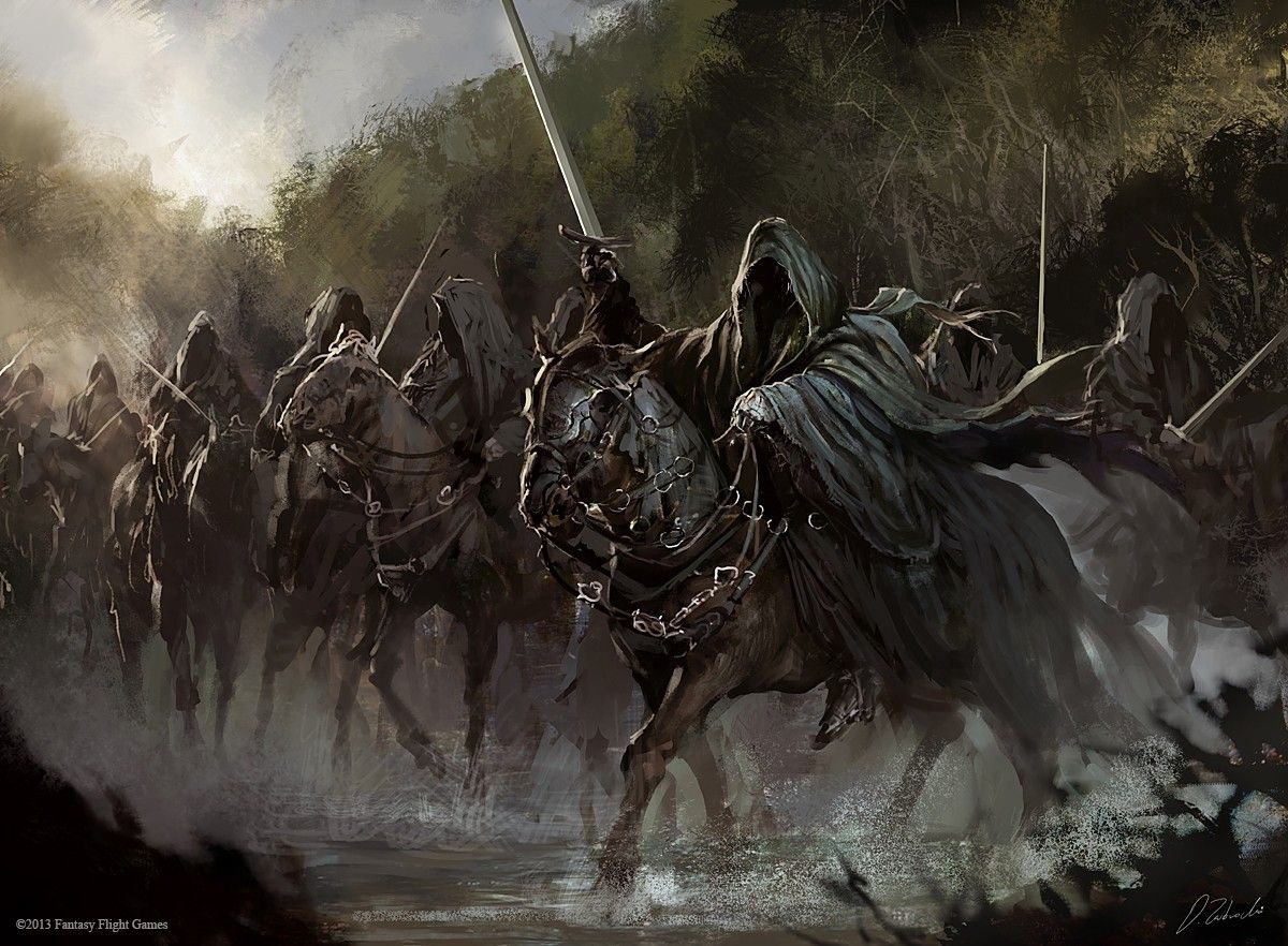The Lord Of The Rings Nazgul Concept Art Horse Wallpapers Hd Desktop And Mobile Backgrounds Lord Of The Rings Tolkien Middle Earth