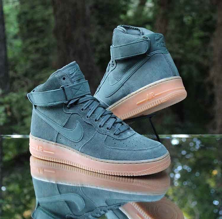 super popular 7d6df 46b6a Nike Air Force 1 High 07 LV8 Suede Vintage Green AA1118-300 ...
