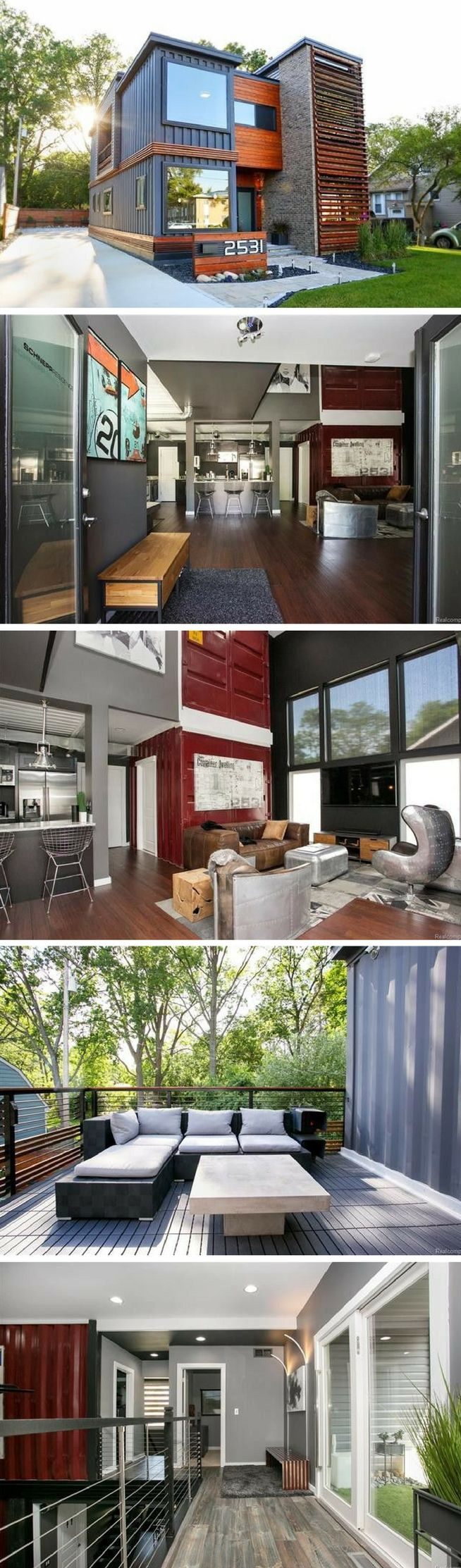 Royal oak shipping container house decoration for Casa moderna storm oak