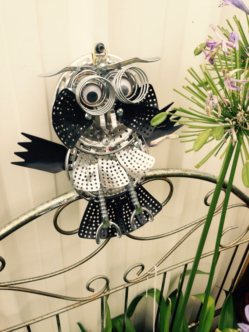 Owl made from a veggie steamer