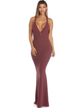 8350844f44e Windsor Jacquelyn Plum Crepe Halter Dress Found on my new favorite app Dote  Shopping  DoteApp