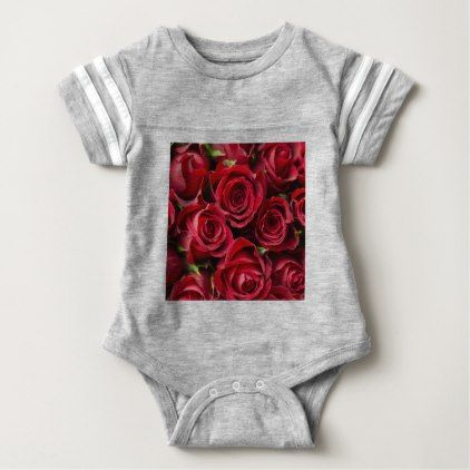 Valentine's Day Red Roses Baby Bodysuit - flowers floral flower design unique style