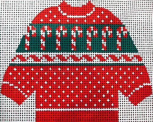 Needlepoint - Candy Cane Sweater design