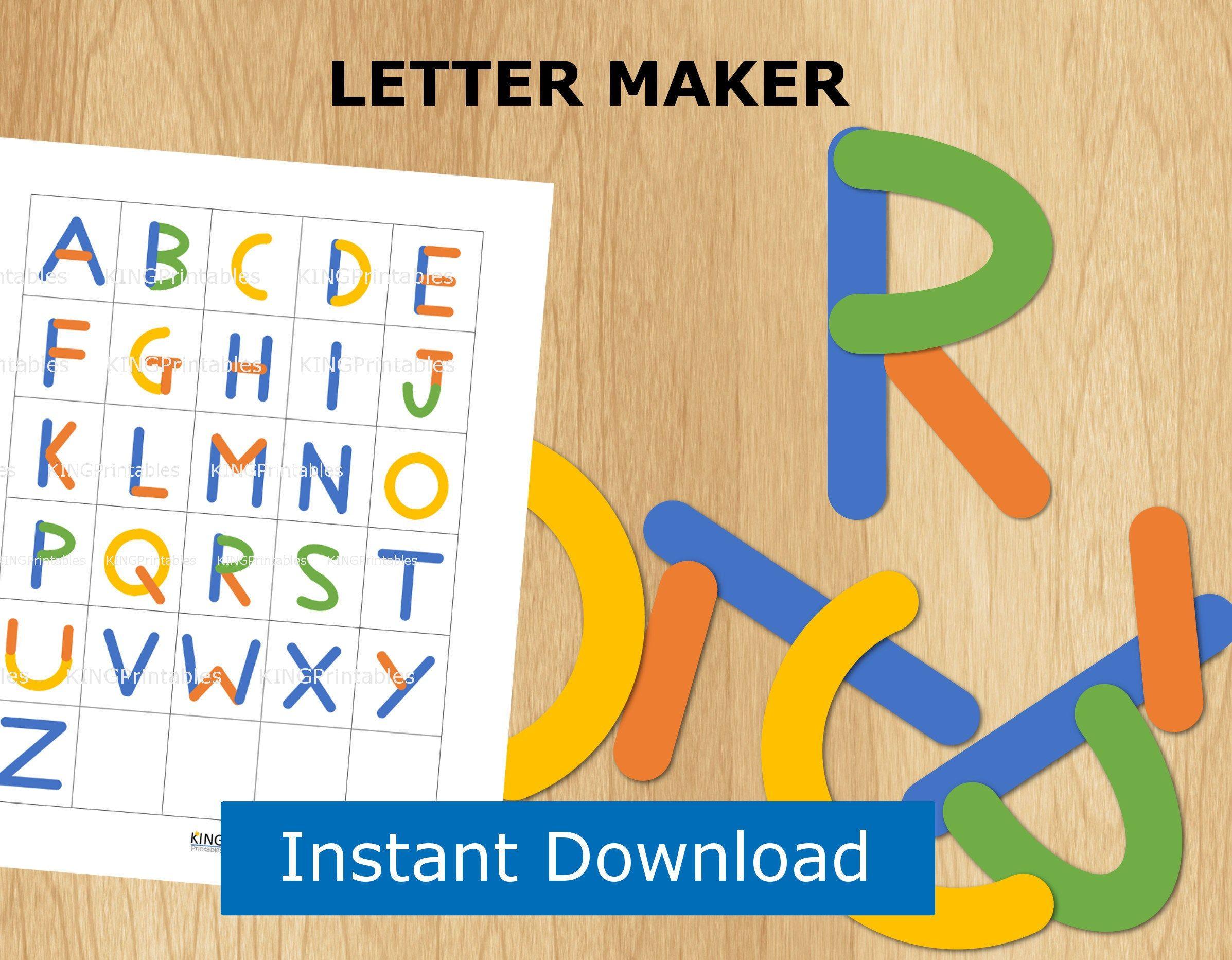 Abc Puzzle Preschool Printable Alphabet Letter Builder