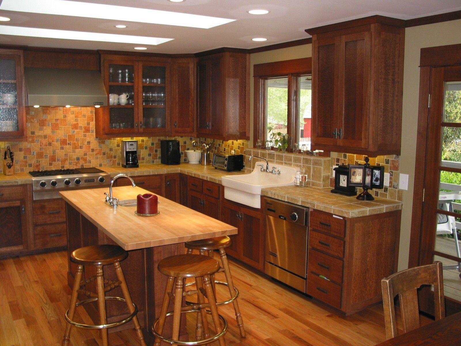 Furniturekitchendarkbrownstainedoakwoodcabinetforcountry New What Is New In Kitchen Design 2018