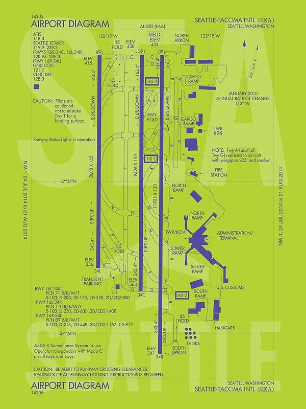 Sea Seattle Tacoma Airport Diagram By Yhmdesigns Airport Airport Map Diagram