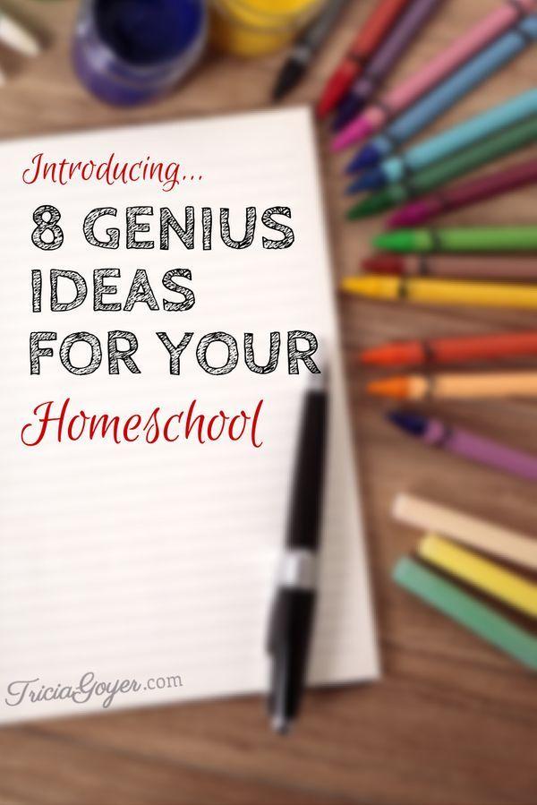 8 Genius Ideas for Your Homeschool - TriciaGoyer.com Ideas ...