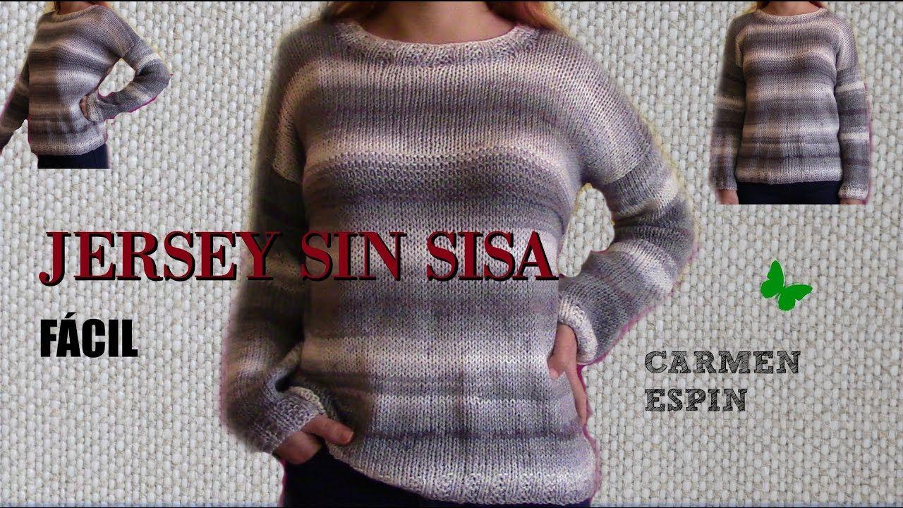 JERSEY SIN SISA Y CUELLO REDONDO.DIY | videos | Pinterest | Tricot ...