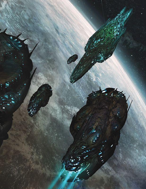 Fantasy Spaceship Concept Art