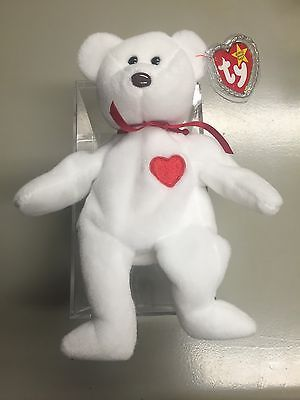 194c2b56492 RARE Vintage Valentino TY Beanie Baby - NWT - Misspelled Tag and PVC Pellets