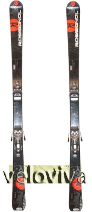 033808258367 Лыжи ROSSIGNOL PMC 4 + крепления. Модель горных лыж 2009 года, но  актуальность не