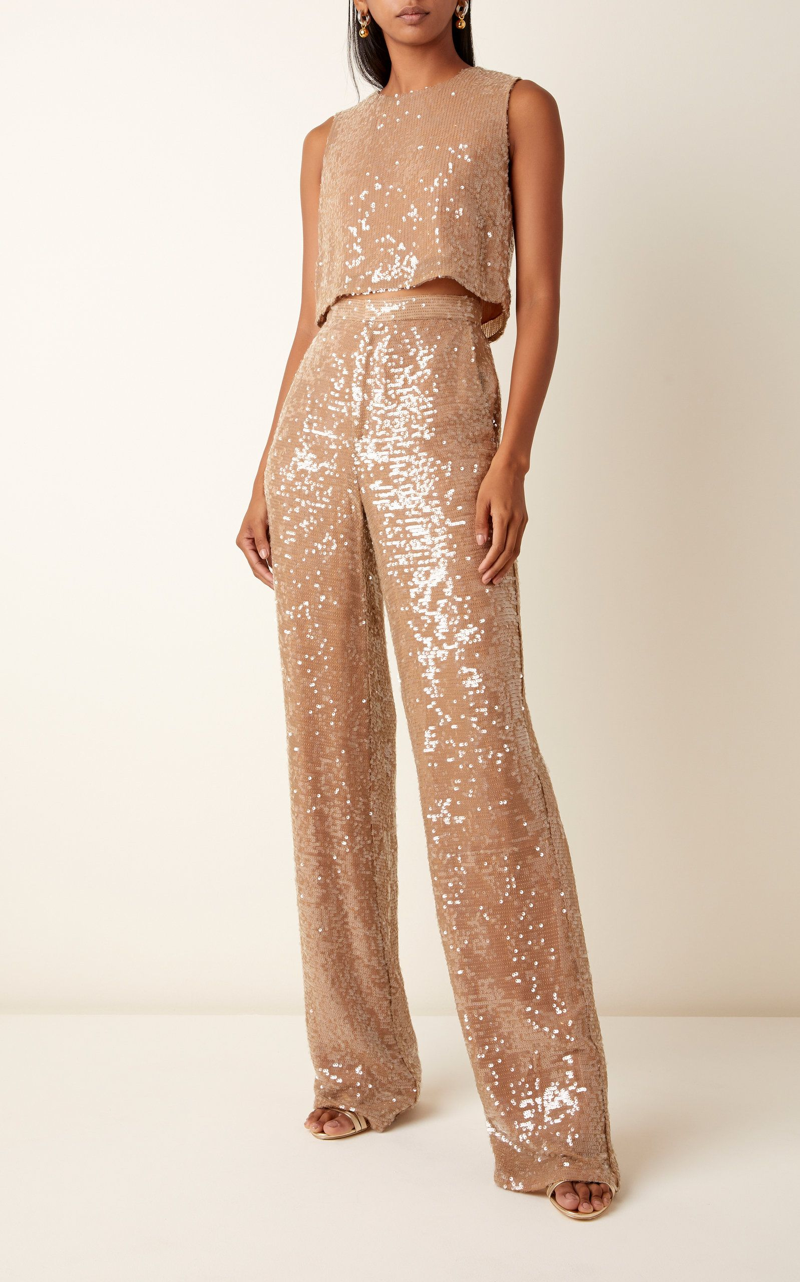 Rose Gold Sequin Pant Suit