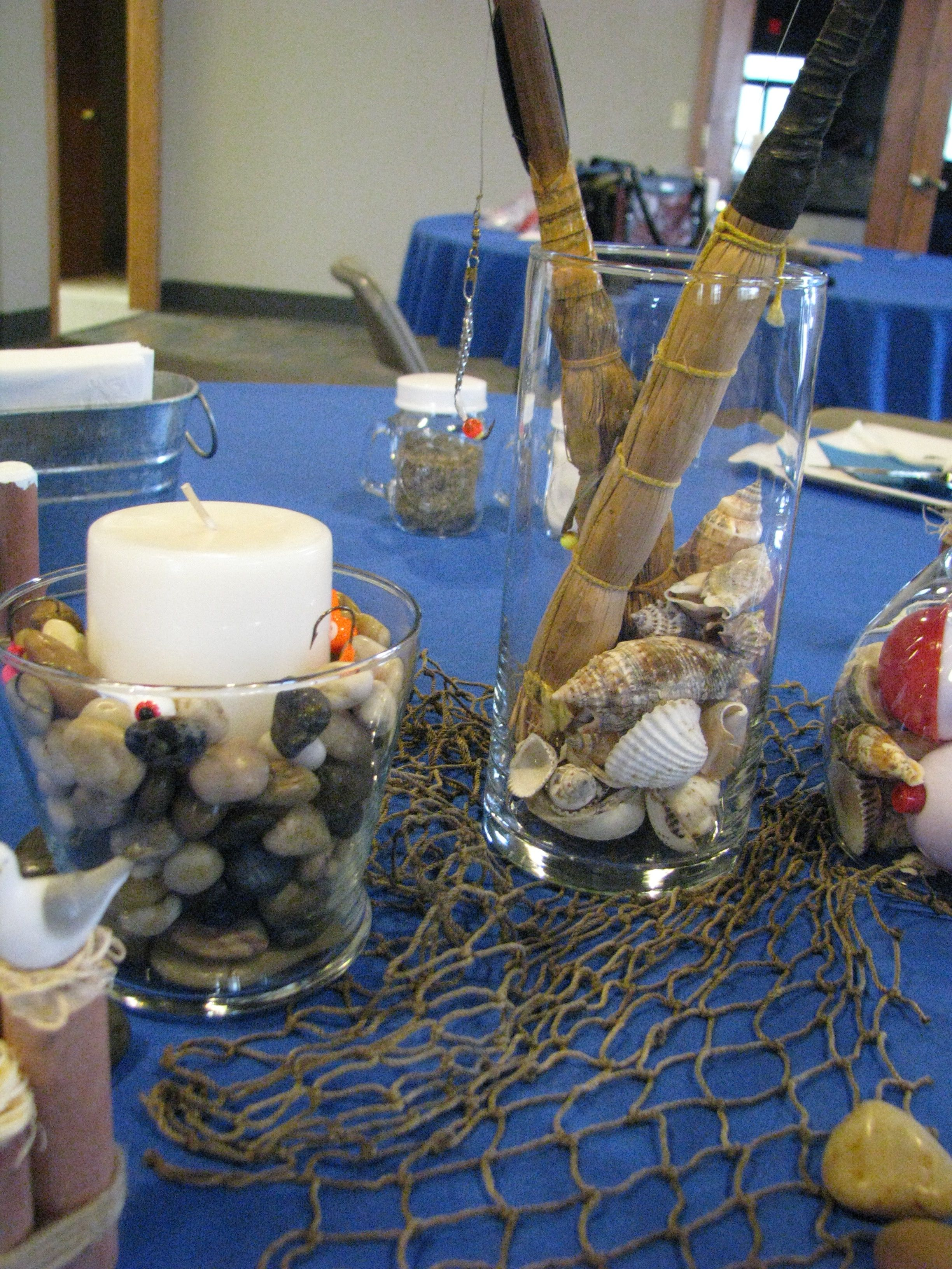 2012 yfc fish fry fishing nautical table setting for Decoration hole
