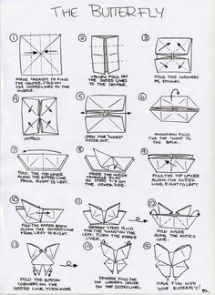 Origami Instruction Butterfly