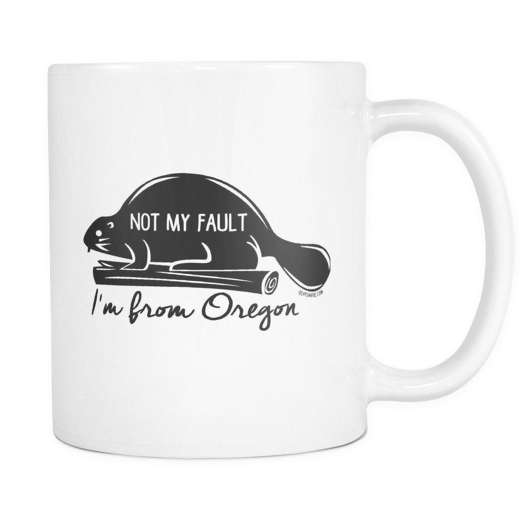 Oregon, Not My Fault, Black Print, Mug