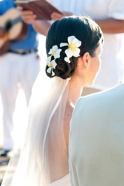 Nice Wedding Hairstyles Frangipani Wedding Flowers In Hair
