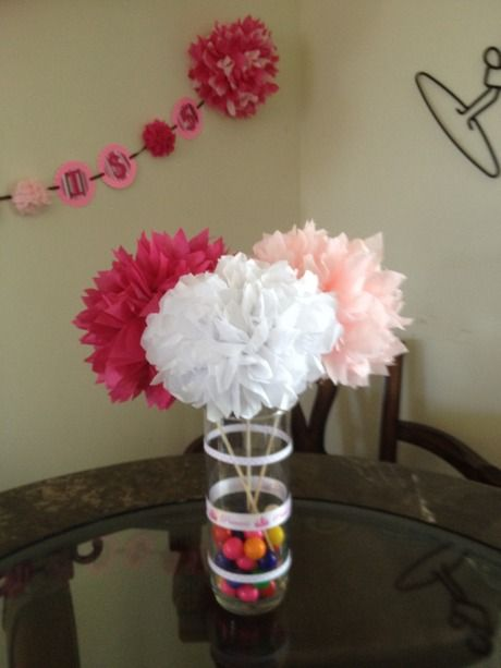 Tissuepompomscenterpiece copious tissue paper pom poms set of tissuepompomscenterpiece copious tissue paper pom poms set of 3 flower arrangement mightylinksfo