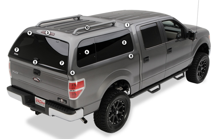 Snugtop Xtr Shell With Integrated Roof Rack Camper Shells Truck Camper Shells Truck Caps