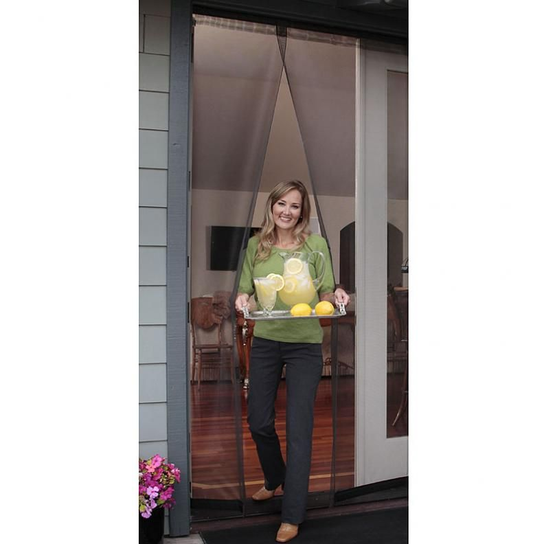 Bug Off Instant Screen Door With Magnetic Closure For A Single Or Sliding Door 36 W X 96 H Instant Screen Door Mesh Screen Door Screen Door