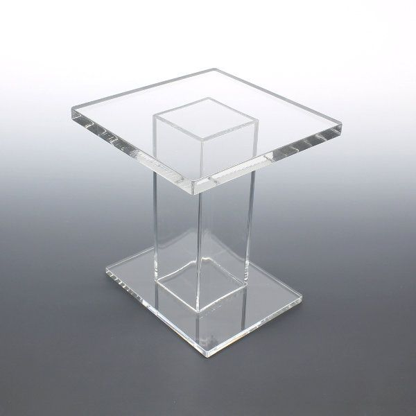 Square Table Clear Acrylic Pedestal Display Risers At Wholesale. Our Clear  Acrylic Pedestal Display Risers