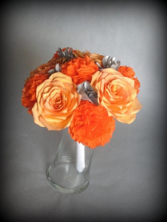 Do it yourself paper flowers crafts pinterest orange grey do it yourself paper flowers mightylinksfo Images