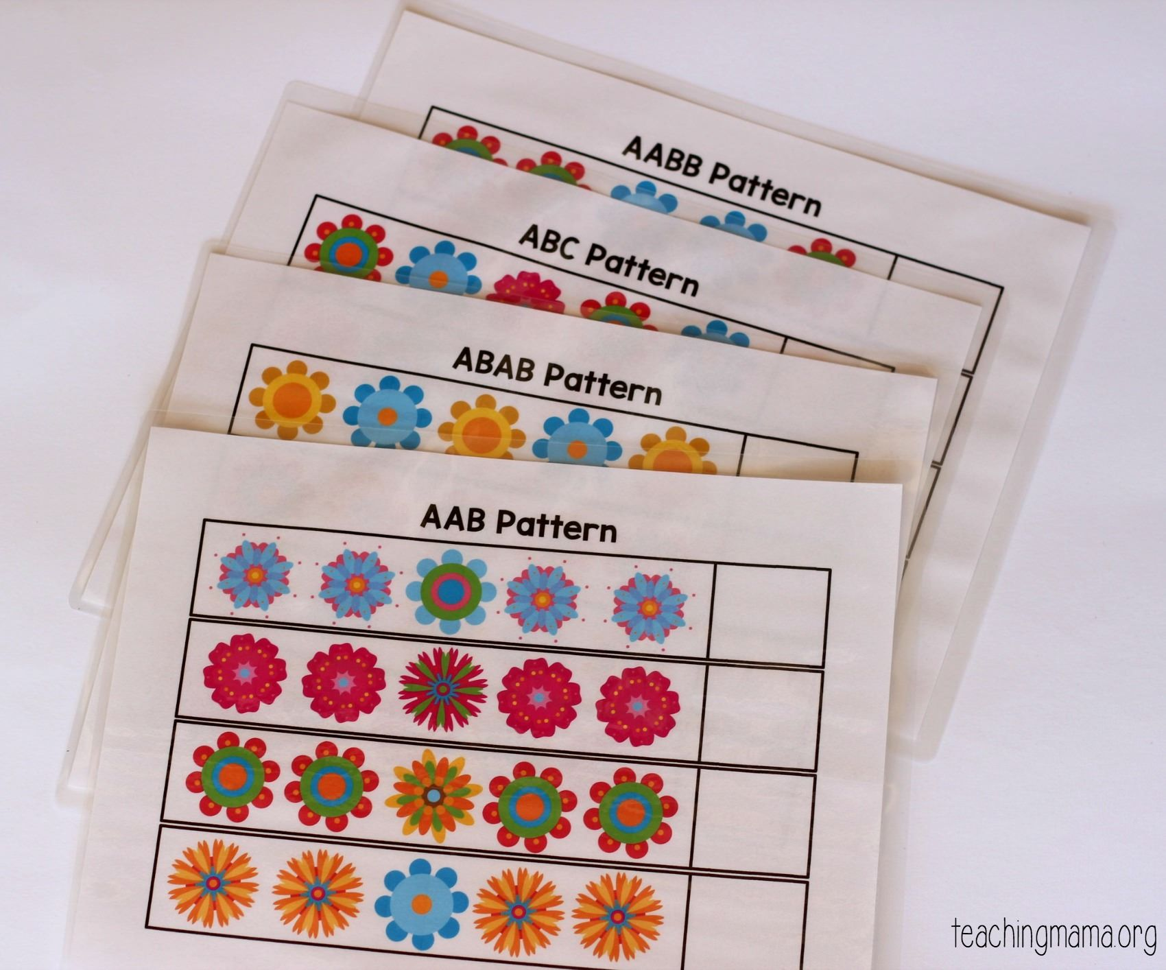 Flower Pattern Strips Preschool Patterns Flower Patterns Pattern Activities [ 1414 x 1700 Pixel ]