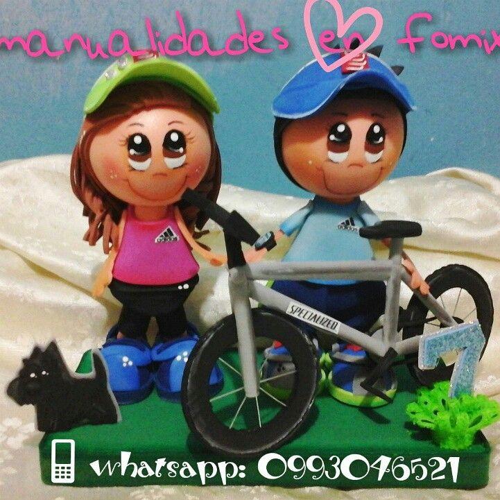 Fofuchos personalozados con bici!!
