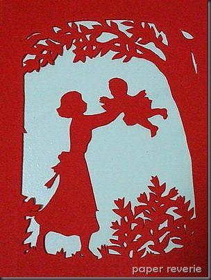 Картинки позитивные, киригами открытка с днем матери