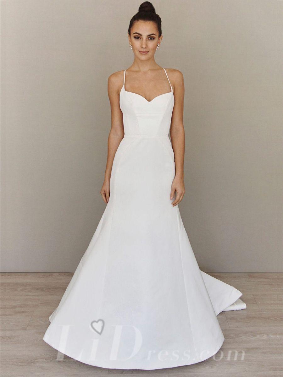 Spaghetti Straps Sweetheart Neckline Wedding Dress Fit And Flare Wedding Dress Wedding Dresses Sweetheart Neckline Wedding Dress Necklines