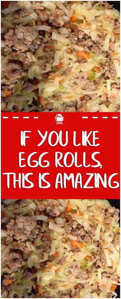 If you like egg rolls, this is amazing  #egg #rolls #eggrolls
