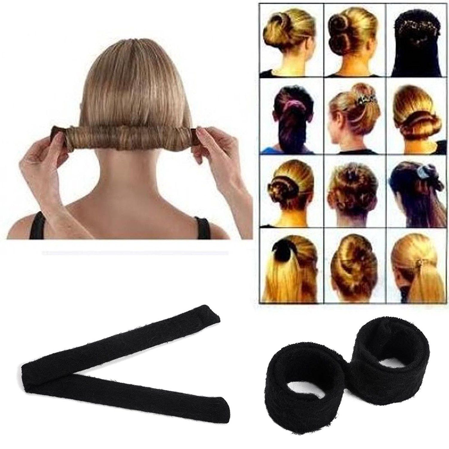 Hair Bun Updo Fold Wrap And Snap Styling Tool For Girl Hair Style Black See This Great Product Diy Hair Bun Hair Bun Maker Bun Hairstyles