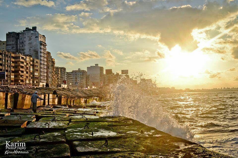 Alexandria at sunset