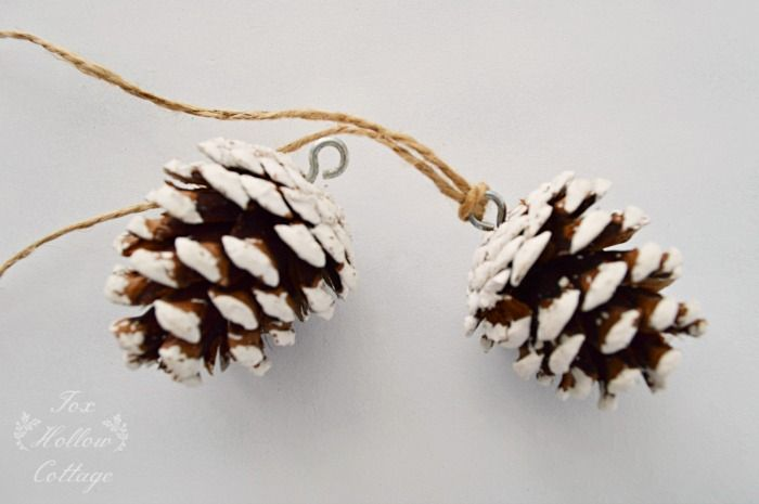 Jingle Bell Pinecone Ornament Trees, Christmas trees and Ornaments