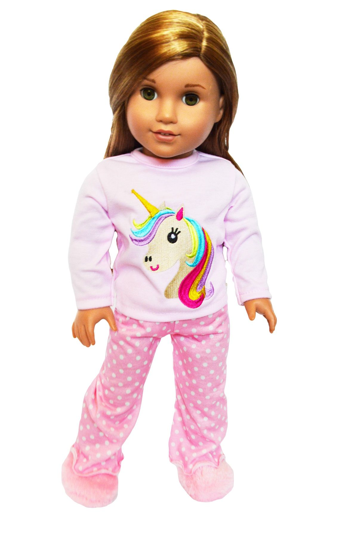 Free 2 Day Shipping Buy My Brittany S Unicorn Pjs For American Girl Dolls My American Girl Doll Hairstyles Doll Clothes American Girl American Girl Doll Diy