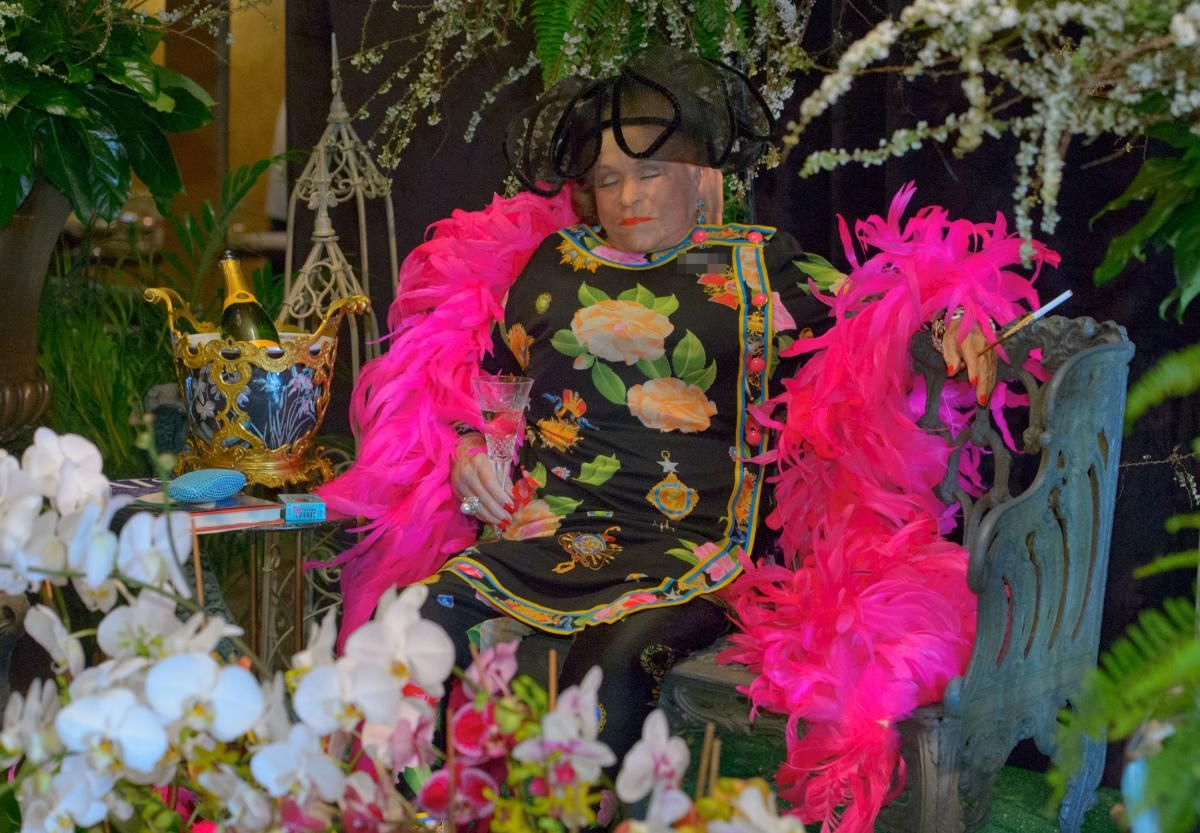 """New Orleans socialite Mickey Easterling was known for her outlandish outfits and her community activism. For her funeral, she was propped up on a bench in one of her famous outfits. Her family didn't release her age. Easterling once said """"Age is a number, and mine's unlisted."""""""