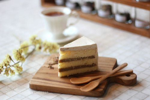 Cake time by BonPoon  IFTTT 500px Bangkok Cafe Cake Closeup Coffee Table Tea Thailand Wooden